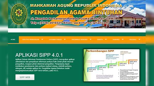 Template Web Pengadilan Agama Bintuhan